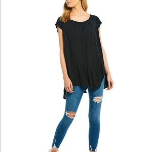 Free People Keep It Casual  Slit Front Tunic Tee
